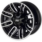 Machined/Gloss Black 112X 12x7 Wheel - 0230-0874