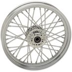 Chrome Front 19x2.5 40-Spoke Laced Wheel w/ABS - 0203-0622