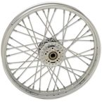 Chrome Front 21x2.15 40-Spoke Laced Wheel w/ABS - 0203-0625