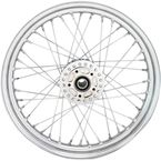 Chrome Front 19x2.5 40-Spoke Laced Wheel w/ABS - 0203-0626
