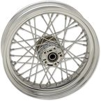 Chrome Rear 17x4.5 40-Spoked Laced Wheel - 0204-0519