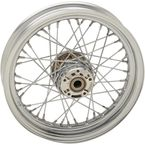 Chrome Front 16x3 40-Spoke Laced Wheel (Non-ABS) - 0203-0630