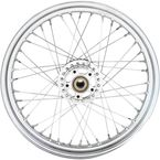 Chrome Front 19x2.5 40-Spoke Laced Wheel w/ABS - 0203-0629