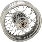 Chrome Rear 16x5 40-Spoke Laced Wheel (Non-ABS) - 0204-0521