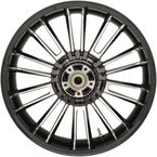 Black Rear Precision Cast 18 x 5.5 Atlantic 3D Wheel (ABS)  - 0202-2114