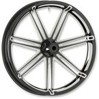Black 7 Valve 21x3.5 Forged Aluminum Front Wheel (ABS) - 10301-204-6008