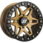 Bronze Front/Rear Split 6 Beadlock 14x7 Wheel w/12mm Tapered Lug - A72BZ-47037-52S