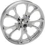 Chrome Front 21x3.5 Largo 3D Wheel - 0201-2260