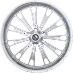 Front Chrome 23 in. x 3.75 in. Forged Fuel Aluminum Wheel for ABS - 2502-FUL-233-CH