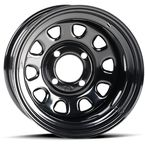 Black Front or Rear 14x7 Steel Wheel - 1425553014B