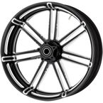 Black 7 Valve 18 x 5.50 in. Front  Forged Billet Wheel - 10301-203