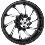 Black Rear 18 in. x 5.5 in. Hurricane Precision Cast 3D One-Piece Wheel - 3D-HUR185BC-ABS