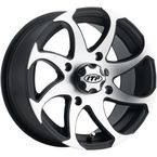 Machined/Black Twister Directional 14x7 Right Wheel - 1422328536BR