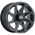 Black Milled Twister Directional 14x7 Left Wheel - 1422328727BL