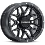 Black Raceline A94 Krank Simulated Beadlock 14x7 Wheel - A94B-47037+38