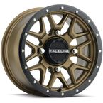 Black/Bronze Raceline A94 Krank Simulated Beadlock 14x7 Wheel - A94BZ-47011+10