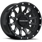 Black Raceline A95 Trophy Simulated Beadlock 15x7 Wheel - A95B-57056+10
