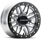 Machined Black/Gray A91MA Ryno Beadlock 15x10 Wheel - A91MA-51037-00