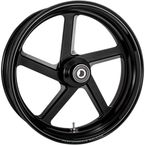 Rear Black-Ops Pro-Am One-Piece Aluminum Wheel for Single Disc w/o ABS - 12697814RPROSMB