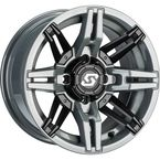 Gray/Black Front/Rear Rukus Limited Edition 14x7 Wheel - A83SG-B-47011-52S