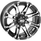 Machined Gloss Black Front HD3 Wheel - 12HD307