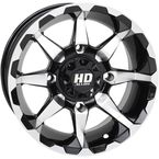 Machined Gloss Black Front HD6 Wheel  - 14HD607