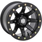Solid Matte Black Rear Comp Lock HD9 Wheel - 15HB92710