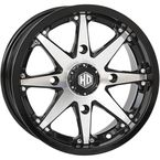 Machined Gloss Black Front HD10 Wheel - 14HD1007