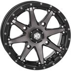 Machined Gloss Black w/Smoke Front HD10 Wheel - 14HD1010