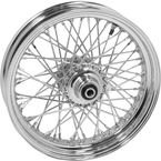 Chrome 23x3.00 60 Spoke Front Wheel - 51690