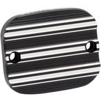Black 10-Gauge Front Brake Master Cylinder Cover - 03-229