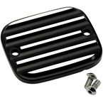 Black/Silver Finned Front Master Cylinder Cover - 951019-2