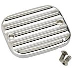 Chrome Finned Front Master Cylinder Cover - 951019-3