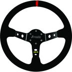 Black Shallow Suede Steering Wheel - 04-0001