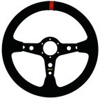 Black Sport Suede Steering Wheel - 04-0002