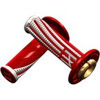 Red/White Emig Pro V2 Lock-On Grips - H36EPRW