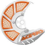 White/Orange X-Brake 2.0 Vented Front Disc Cover - 2449495412