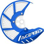 Blue/White X-Brake 2.0 Vented Front Disc Cover - 2449490211