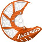 Orange/White X-Brake 2.0 Vented Front Disc Cover - 2449495226