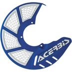 Blue/White Mini X-Brake Disc Cover - 2630551006