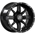 Black Front/Rear Hollow Point 14x8 Wheel - A88B-48011-44S