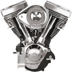 Wrinkle Black/Chrome V111 Complete Assembled Engine - 106-5704