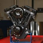 Gloss Black V111 Complete Assembled Engine - 106-0828