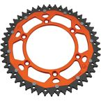 52  Tooth Orange Dual Rear Sprocket - 1210-1528