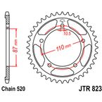 High Carbon 520 45 Tooth Steel Rear Sprocket - JTR823.45