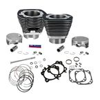 Wrinkle Black Powder Coat 124 in. Big Bore Cylinder and Piston Kit - 910-0338