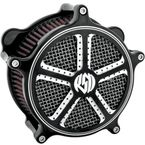 Mission Contrast Cut Venturi Air Cleaner - 0206-2011-BM