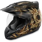 Black Variant Splintered Helmet - 0101-8045