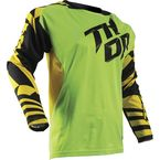 Youth Flo Green/Yellow Fuse Dazz Jersey - 2912-1394
