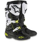 Black/White/Flo Yellow Tech 10 Boots - 2010014-12-10